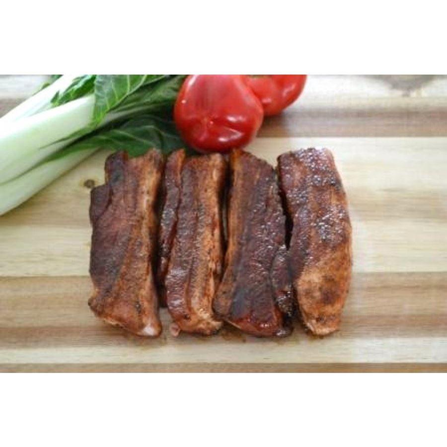 Marinated bbq pork ribs